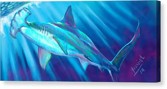 Fish Tanks Canvas Print - Tarpon Season  by Yusniel Santos