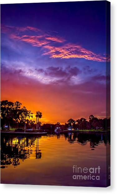 Bayous Canvas Print - Tarpon Springs Glow by Marvin Spates