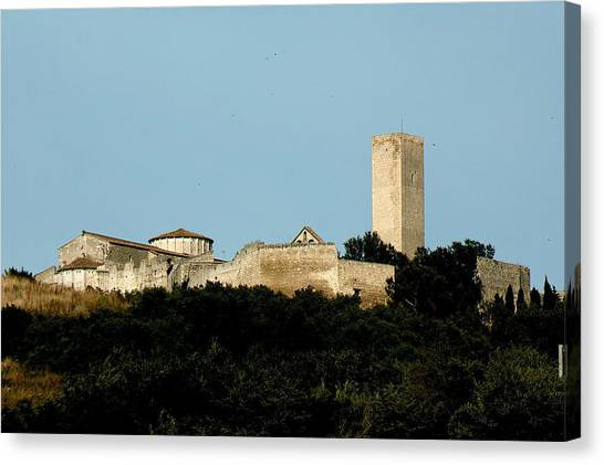 Tarquinia Landscape With Tower Canvas Print