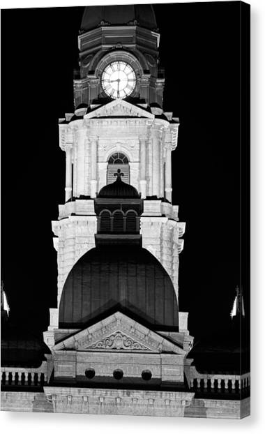Tarrant County Courthouse Bw V1 020815 Canvas Print