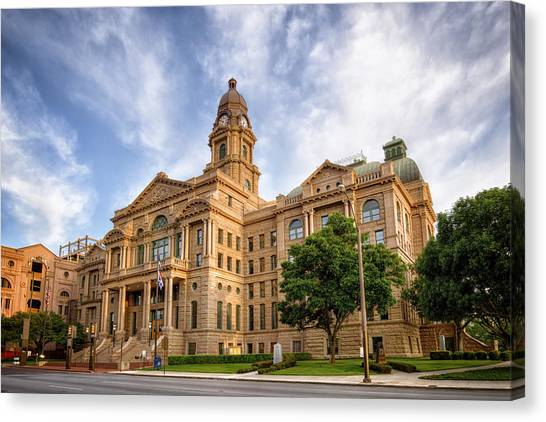 Tarrant County Courthouse II Canvas Print