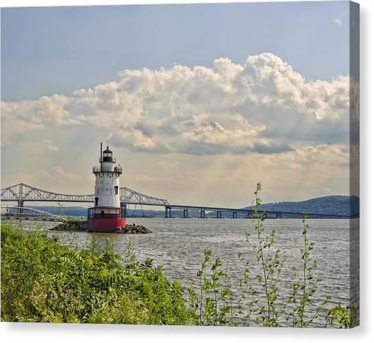 Tarrytown Lighthouse And Tappan Zee Bridge Sleepy Hollow Ny Canvas Print
