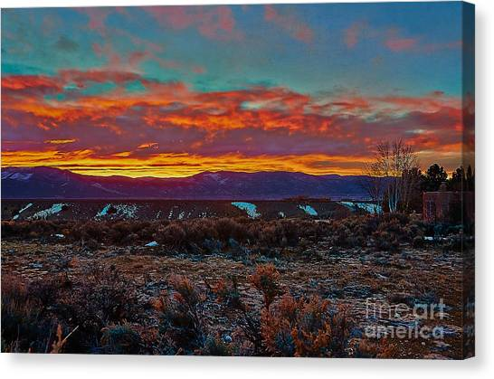 Taos Sunrise Canvas Print