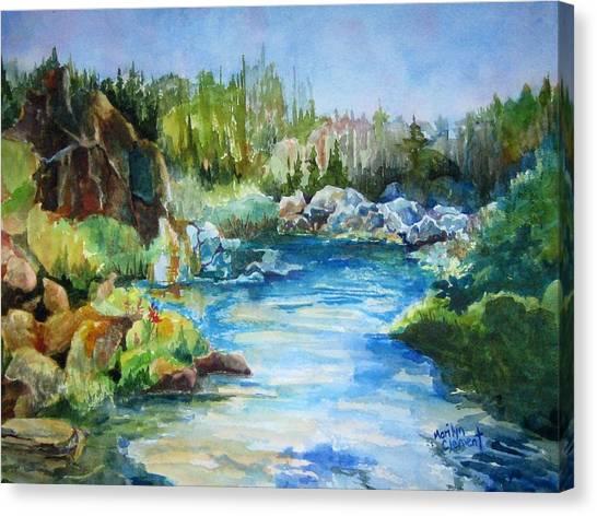 Tasmania River Canvas Print