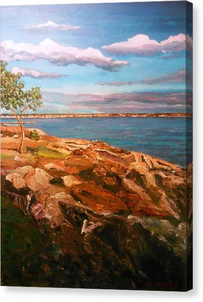 Canvas Print featuring the painting Taste Of Southcoast by Ray Khalife