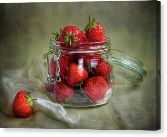 Strawberries Canvas Print - Tastes Of Summer by Mandy Disher