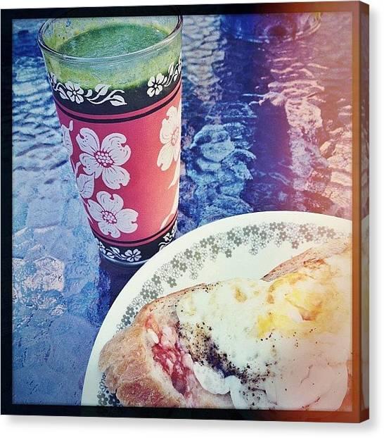 Melons Canvas Print - #tasty #healthy #breakfast #greendrink by Leann Ridulfo