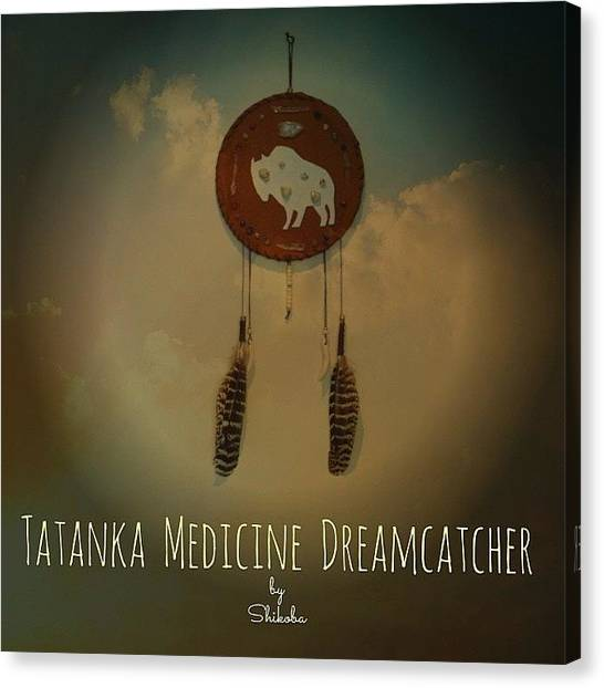 Gemstones Canvas Print - Tatanka Medicine Dreamcatcher by Shikoba Photography