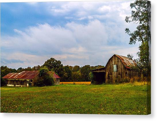 Tate Country Barns - Rural Landscape Canvas Print by Barry Jones