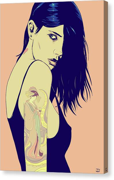 Sexy Canvas Print - Tattoo by Giuseppe Cristiano