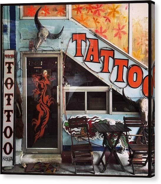 Law Enforcement Canvas Print - Tattoo Door by Darren O' Dea