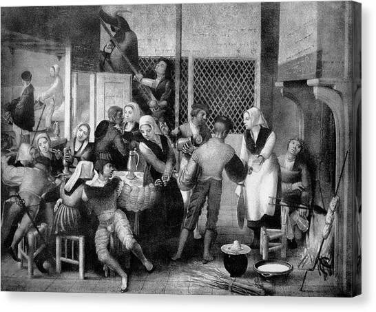Tavern Scene Canvas Print by Bildagentur-online/th Foto/science Photo Library