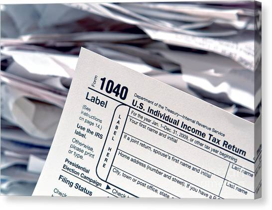 Tax Forms Canvas Prints Fine Art America