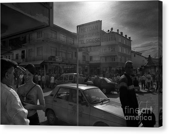 Taxi Point Canvas Print by Candido Salghero