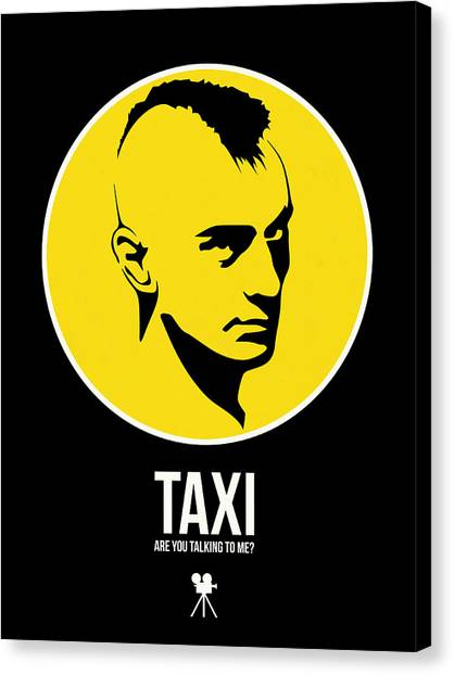 Taxi Canvas Print - Taxi Poster 2 by Naxart Studio
