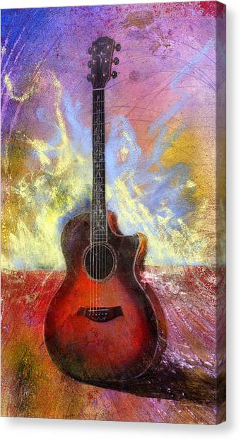 Acoustic Guitars Canvas Print - Taylor by Andrew King