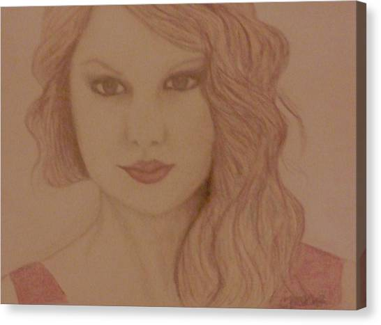Taylor Swift Canvas Print - Taylor Swift by Christy Saunders Church