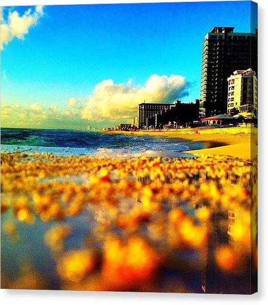 Wine Canvas Print - #tbt #cancun #mexico #ocean #landscape by Thewinery Wine