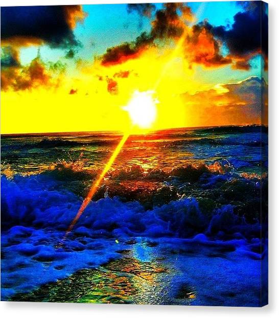 Wine Canvas Print - #tbt #cancun #mexico #ocean #water by Thewinery Wine