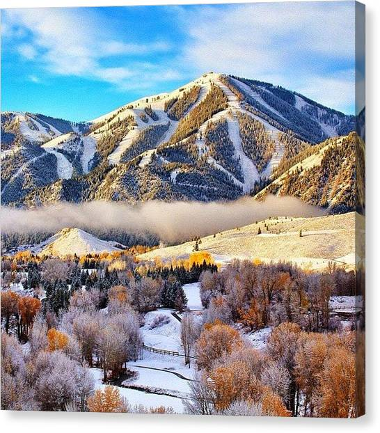 Snow Canvas Print - #tbt #first #snow Last #fall In by Cody Haskell