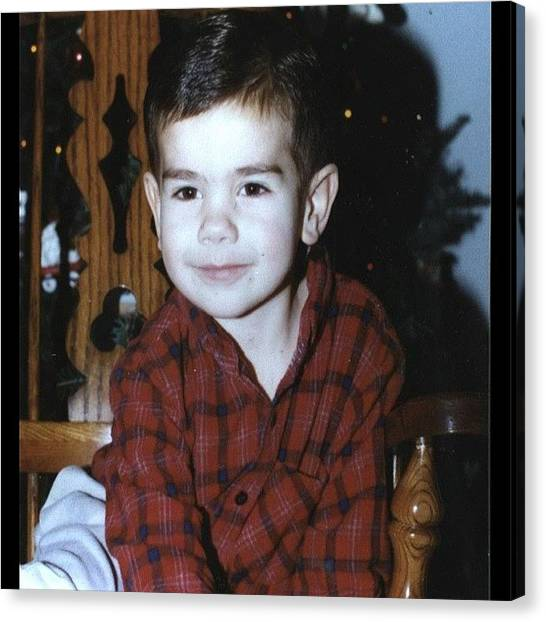 Flannel Canvas Print - #tbt Swooning The Ladies Since '94 by Matt Kretzschmar