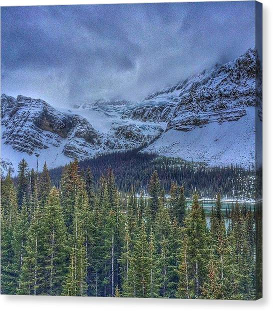Glacier National Park Canvas Print - #tbt #throwback #thursday #crowfoot by David Bugden