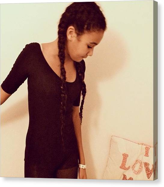 Jamaican Canvas Print - Tbt🙈 #thrownack #me #girl by Mae Simms
