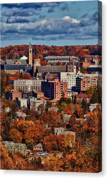 Cornell University Canvas Print - Tcat Serving Cornell by Monroe Payne