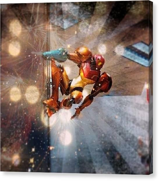 Metroid Canvas Print - #tcbc_flashyandactionpacked #samus by Chuck Caldwell
