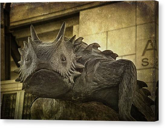 Tcu Horned Frog Canvas Print