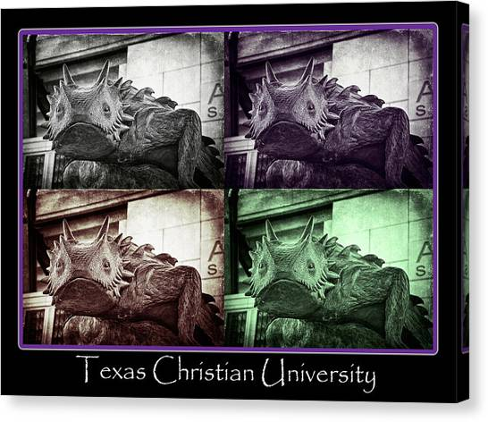 Texas Christian University Canvas Print - Tcu Horned Frog Poster by Joan Carroll
