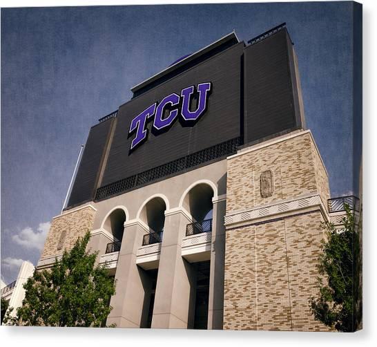 Texas Christian University Canvas Print - Tcu Stadium Entrance II by Joan Carroll