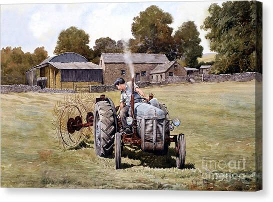Te20-fergy In The Fields Canvas Print by Anthony Forster