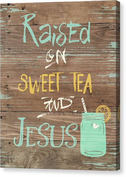 Sweet Tea Canvas Print - Tea & Jesus by Jo Moulton