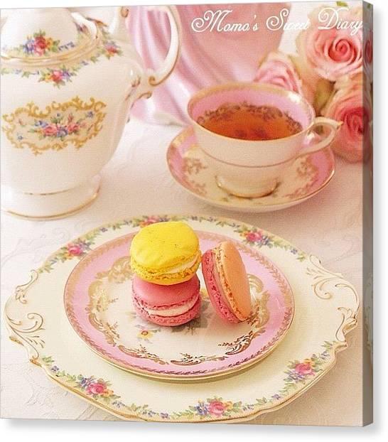Sweet Tea Canvas Print - #tea #afternoontea by Momoko Hasegawa