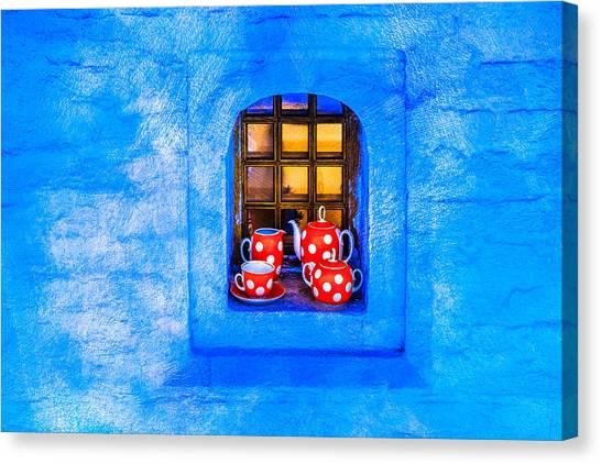 Tea Set Canvas Print - Tea by Alexander Senin