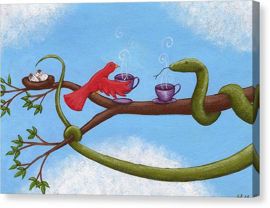 Boa Constrictors Canvas Print - Tea And Eggs by Christy Beckwith