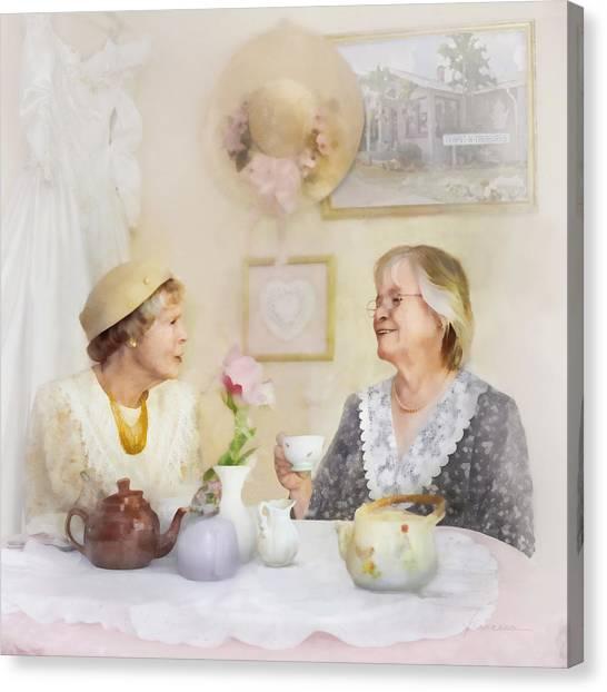 Tea And Talk Canvas Print