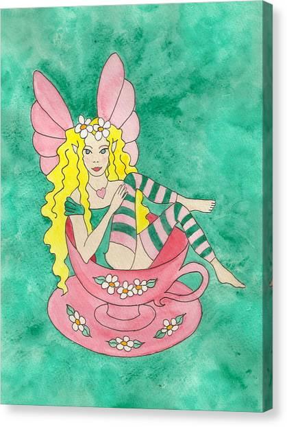 Tea Cup Fairy Canvas Print