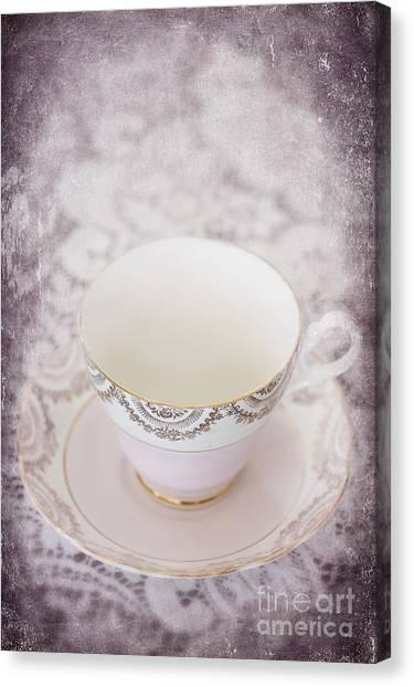 Tea Set Canvas Print - Tea Cup by Svetlana Sewell