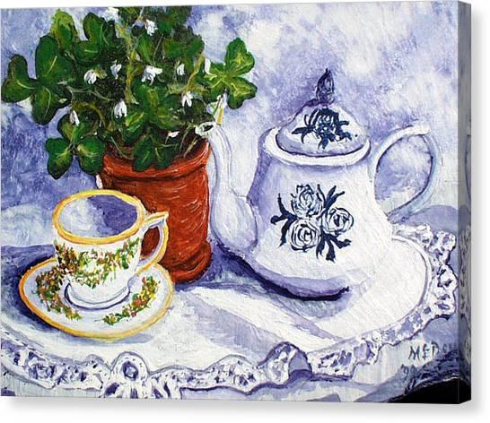 Tea For Nancy Canvas Print
