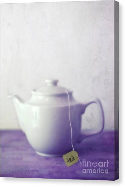 Tea Canvas Print - Tea Jug by Priska Wettstein