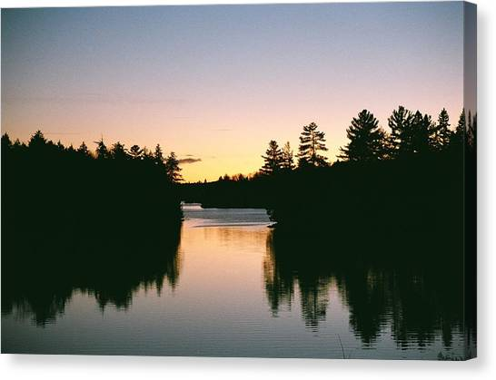 Tea Lake Sunset Canvas Print