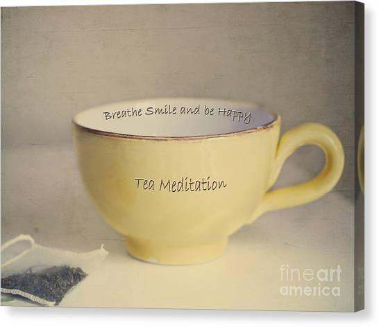 Tea Time Canvas Print - Tea Meditation by Irina Wardas