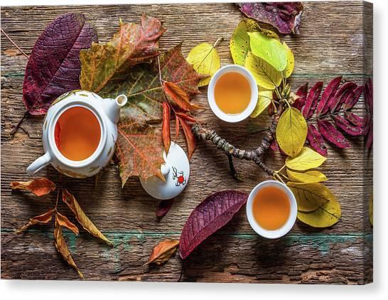 Tea Pot Canvas Print - Tea Of September by Stanislav Aristov