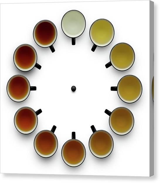 Tea Time Canvas Print - Tea Time by Wieteke De Kogel