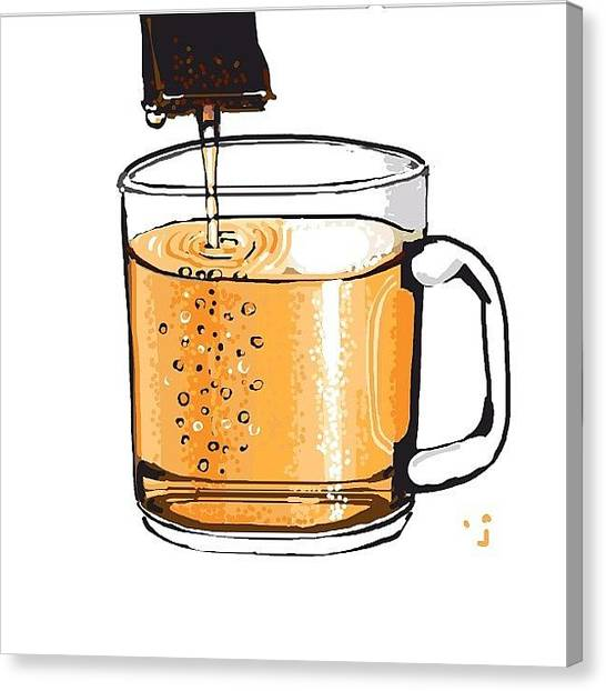 Liquids Canvas Print - Tea, Very Weak Tea, Almost Looks Like by David Burles