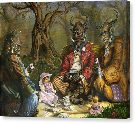 Tea With The Ogres Canvas Print by Jeff Brimley