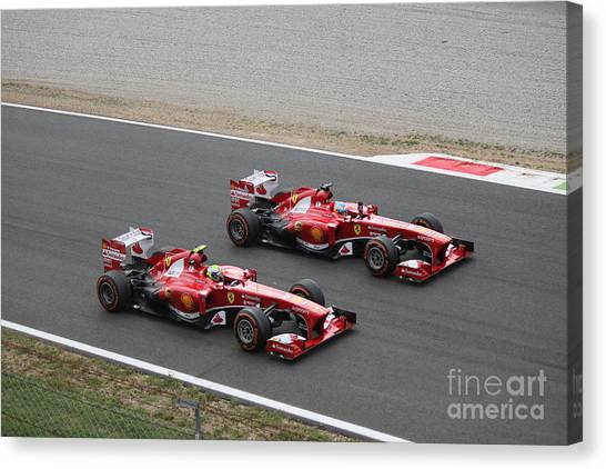 Team Ferrari Canvas Print