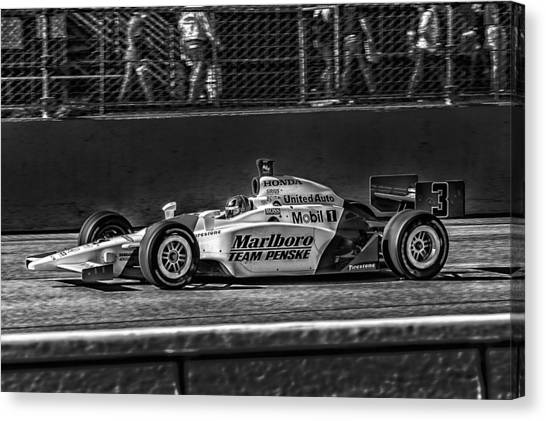 Team Penske Canvas Print - Team Penske Indy by Kevin Cable